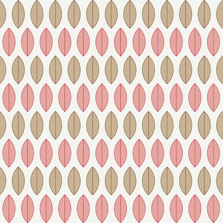 A seamless pattern with leaves - Vector illustration Vector