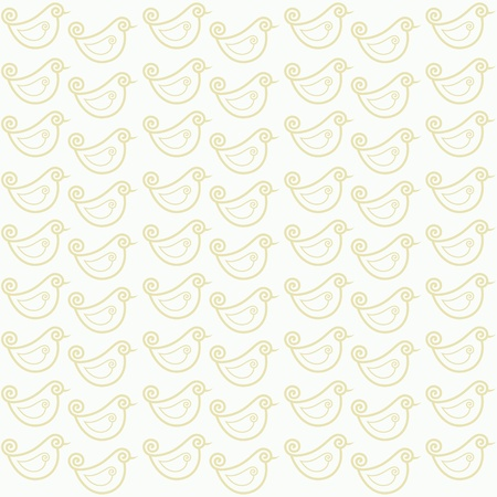 seamless pattern with funny birds  Vector
