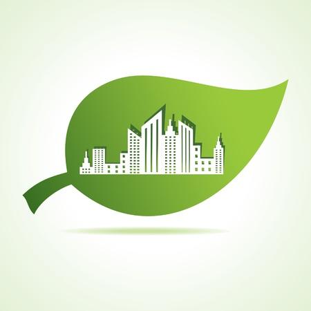 Paysage urbain de feuille stock vector Vecteurs