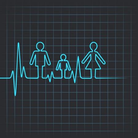 abstract family: Heartbeat make family icon