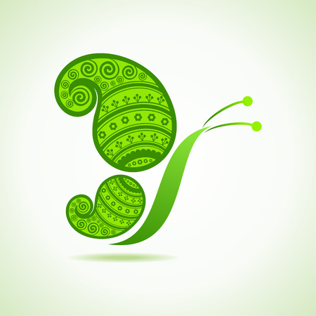 Green decorative butterfly  Vector
