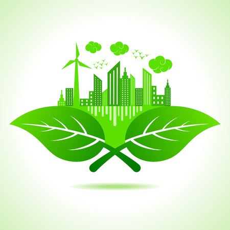 Illustration of ecology concept- save nature  Illustration