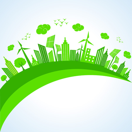 pannel: Illustration of ecology concept- save nature  Illustration