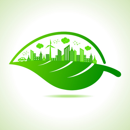 go green icons: Illustration of ecology concept- save nature  Illustration