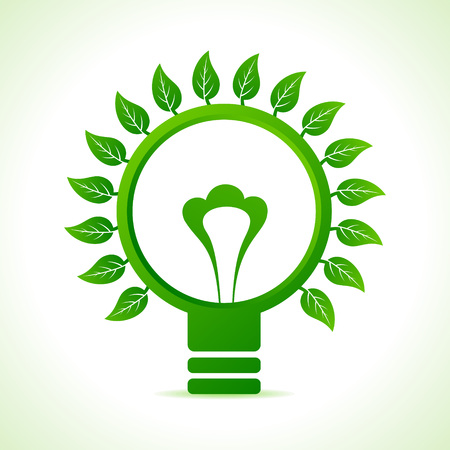 Leaf around the green bulb stock vector Stock Vector - 22632226