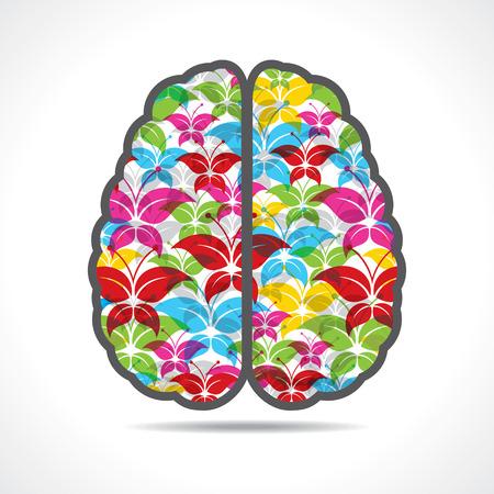 pensador: Mariposa colorida hace una mente o el cerebro stock vector