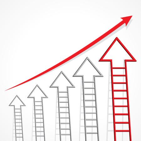 Business graph of arrow ladder stock vector