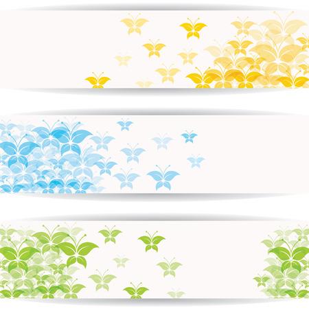 banner website: Abstracte kleurrijke vlinder ontwerp voor website-banner