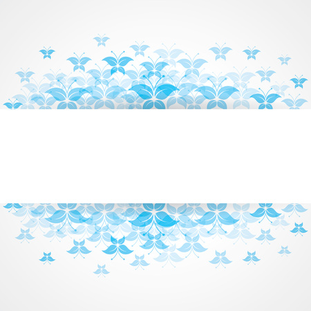 copyspace: Abstract Blue butterfly design with copy-space
