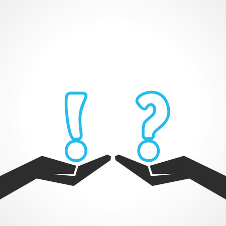 exclamation point: Illustration of question mark and exclamatory symbol