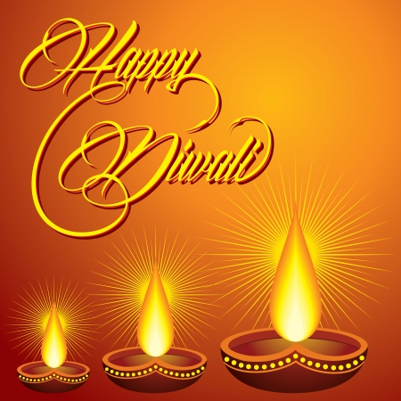 Illustration of diwali greeting background Stock Vector - 23042170