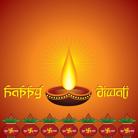 Illustration of diwali greeting background Vector