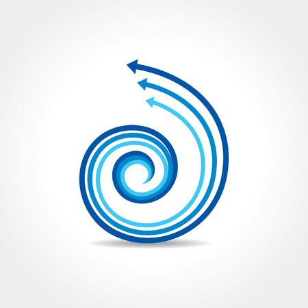 Résumé flèche bleue vecteur icône