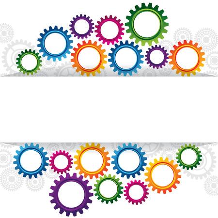 コピー スペースの歯車のホイールで抽象的な web デザインのイラスト