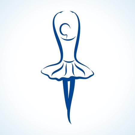 Illustration of stylized yoga pose Vector
