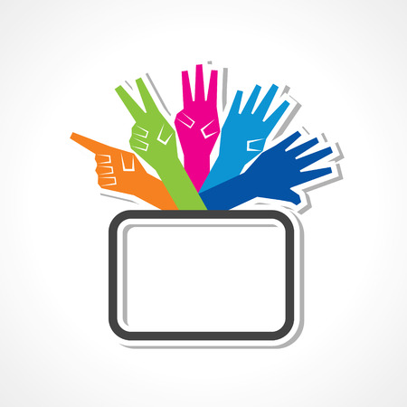Hands make number one to five with copy-space stock vector Vector
