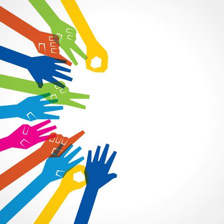 Icône de main créatrice - illustration vectorielle Banque d'images - 24342927