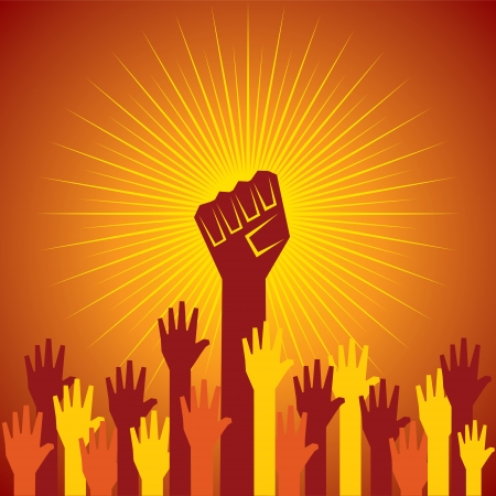 clenched fist held in protest concept  vector illustration Stock Vector - 24342943