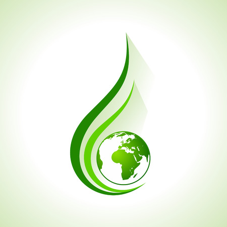 生態学概念地球株式ベクトル アイコン