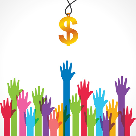Everyone wants money concept stock vector
