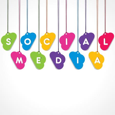 Social network concept - vector illustration Illustration