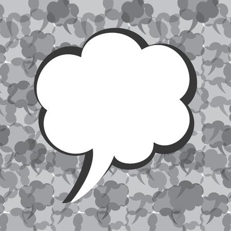 Creative message bubble design stock vector