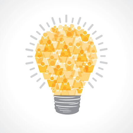 Creative light-bulb of male and female icon stock vector Vector