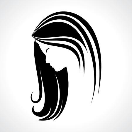 Mujer hermosa silueta stock vector