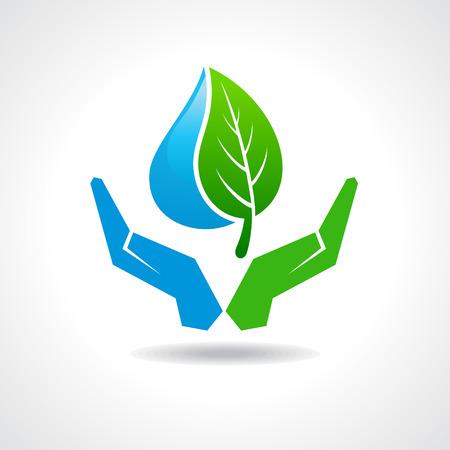 自然概念株式ベクトルを保存します。  イラスト・ベクター素材