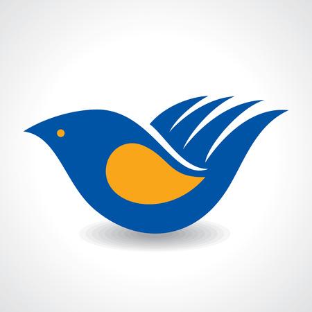 Creative Idea - Hand make a bird icon stock vector Vector