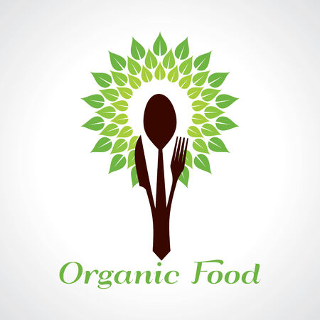 Organic food concept stock vector Vector