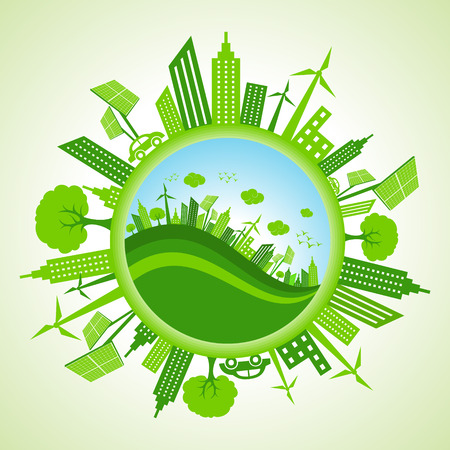 Eco cityscape stock vector Vector