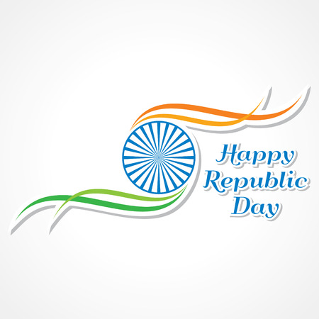 Vector illustration of Happy Republic Day banner  Illustration