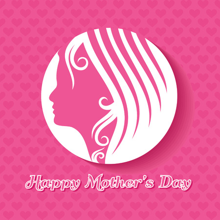 Women's health: Silhouette of a mothers day card with face with text