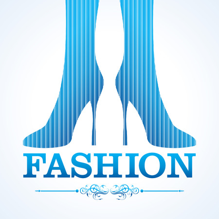 reconstructive: Beauty and fashion icon with shoe stock vector