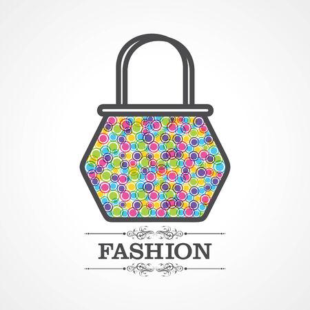 reconstructive: Beauty and fashion icon with handbag stock vector