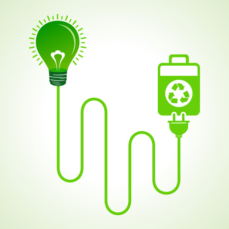 charged: Light bulb charged by a eco cell concept