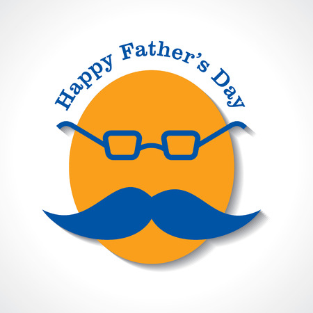 Happy Fathers Day greeting card design Vector