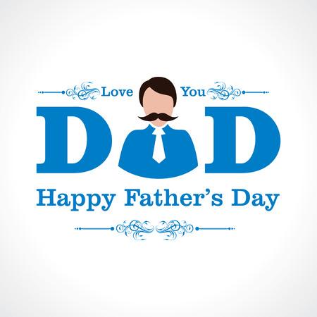 day care: Disegno della cartolina d'auguri di giorno del padre felice Vettoriali