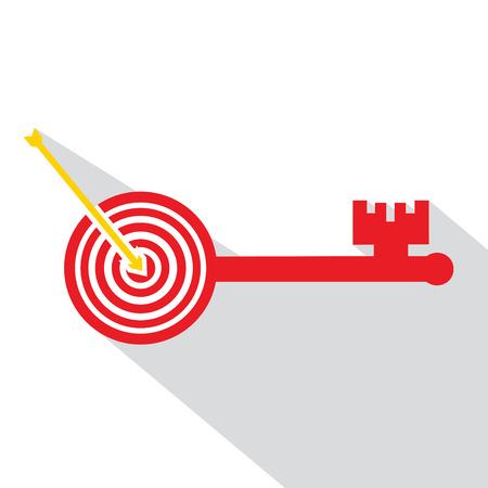 Archery board make key Illustration