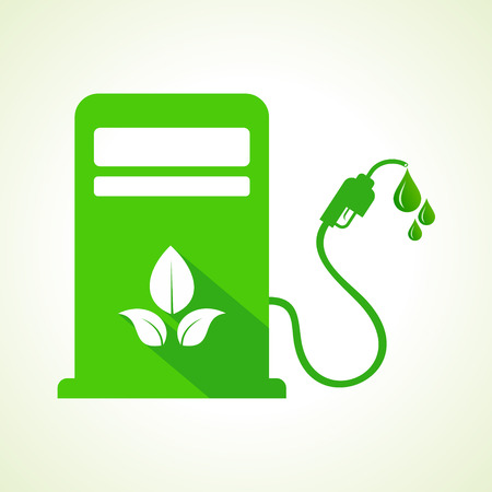 gas pump: Bio fuel concept with petrol pump machine Illustration