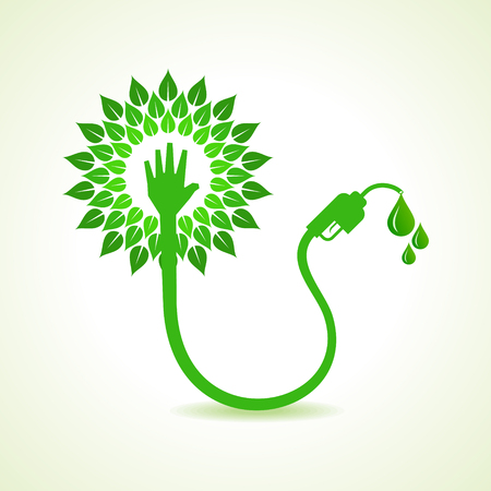 bio fuel: Bio fuel concept with nozzle stock vector