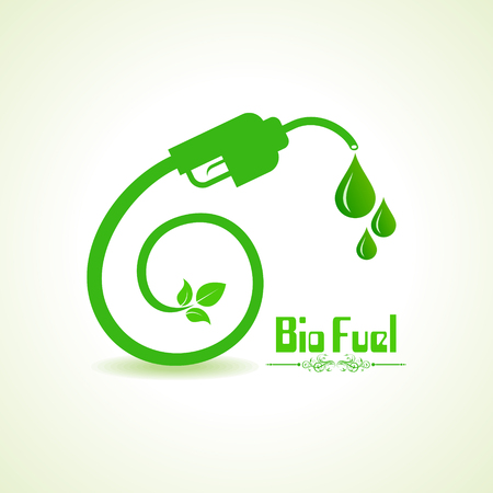 green power: Bio fuel concept with nozzle Illustration