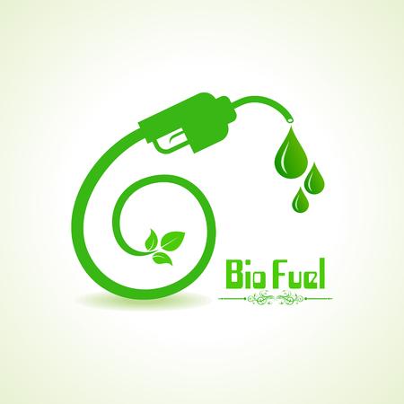 clean energy: Bio fuel concept with nozzle Illustration
