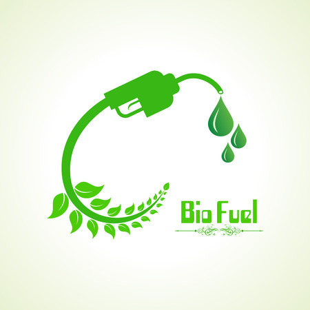 bio fuel: Bio fuel concept with nozzle Illustration