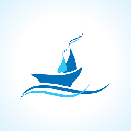 speed boat: creative yacht or boat design vector