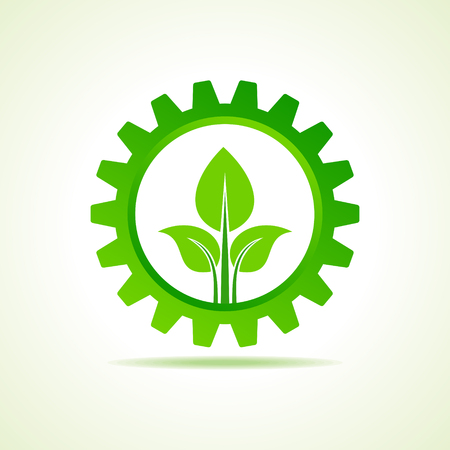 green energy part icon design concept vector Vector