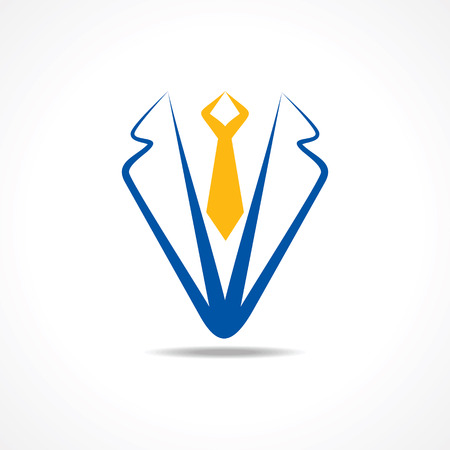 Abstract suit symbol stock vector Stock Illustratie