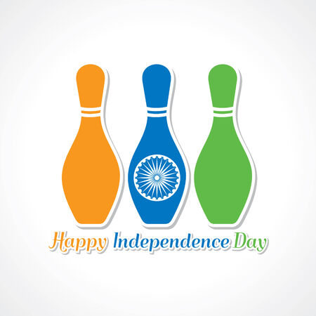Happy independence day greeting card stock Stock Vector - 30166329