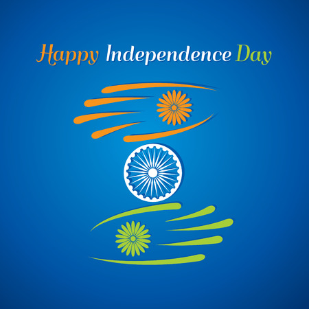 india gate: Happy independence day greeting card stock